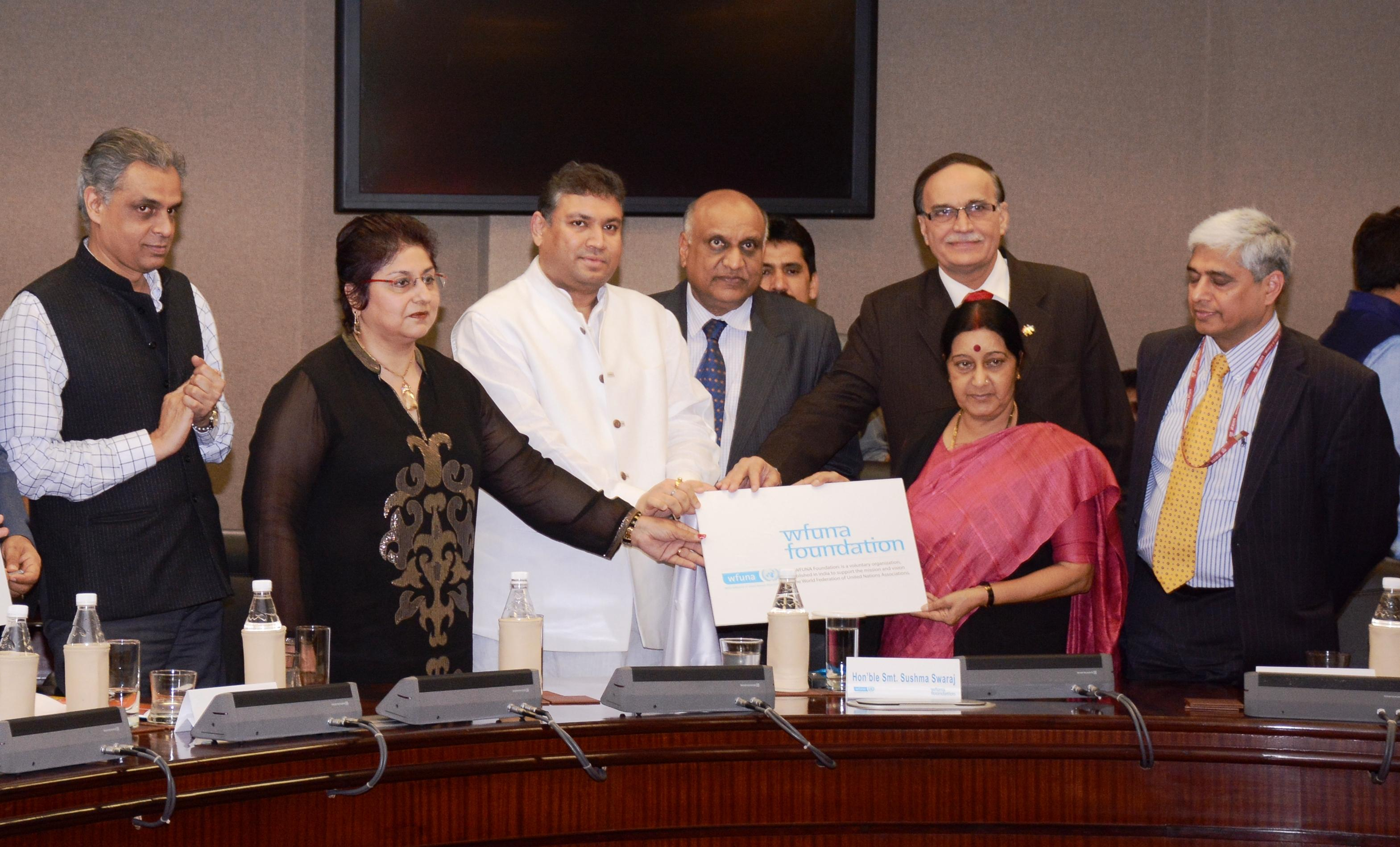 WFUNA Foundation formal launch in India on March 3, 2015.