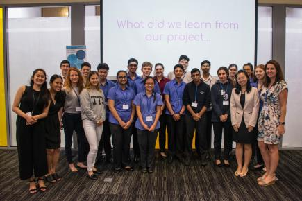 Agents of Change celebrated their achievements at the Closing Ceremony in Singapore.
