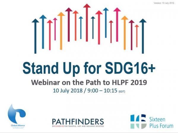 A Call to Stand Up for SDG 16+, the Exclusive Webinar