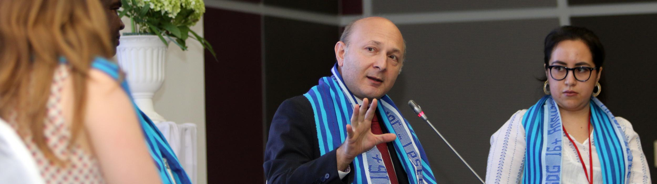 H.E. Imnadze Speaking at a Panel